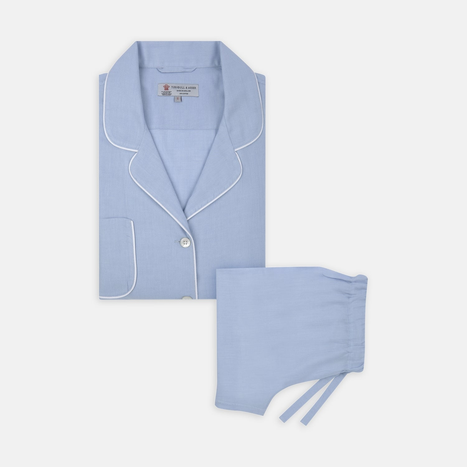 Ladies' Blue Cotton-Cashmere Pyjama Set