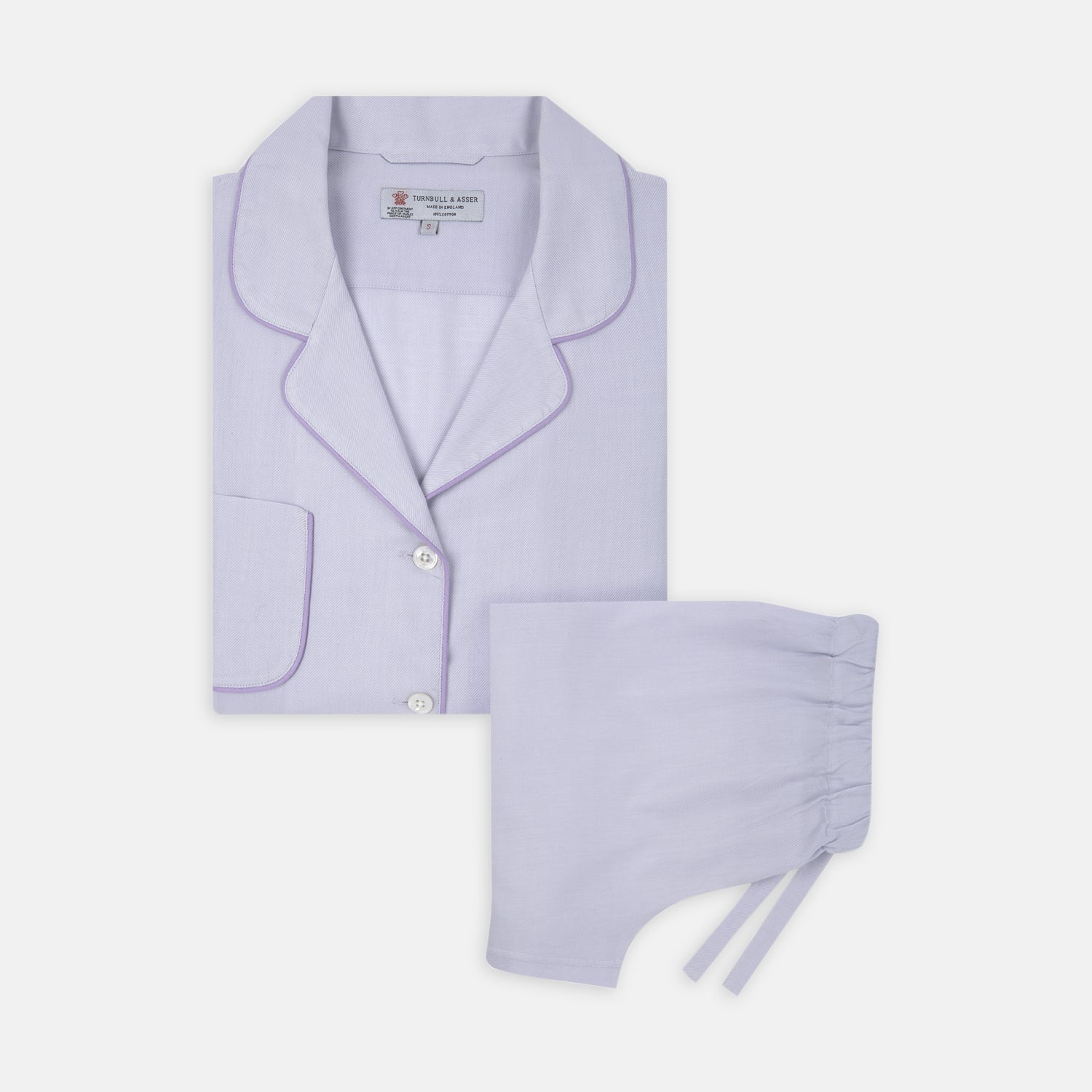 Ladies' Lilac Cotton-Cashmere Pyjama Set