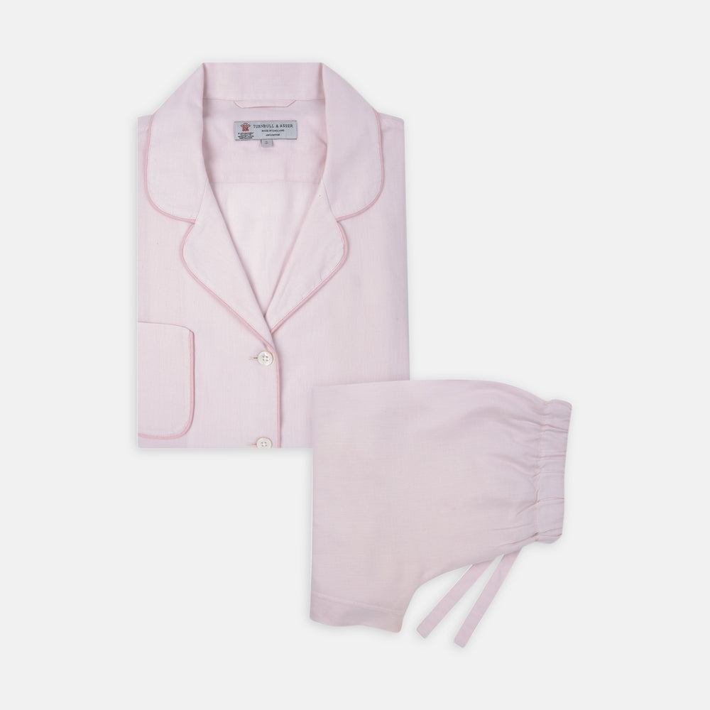 Ladies' Pink Cotton-Cashmere Pyjama Set