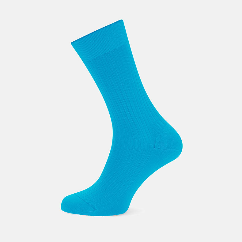 Turquoise Short Cotton Socks