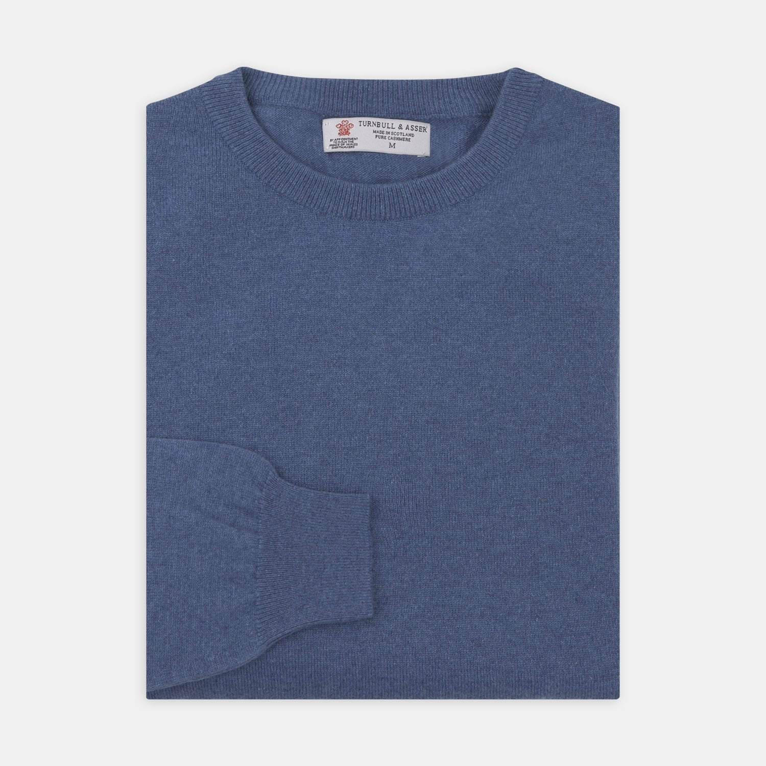 Blue Crew Neck Cashmere Jumper
