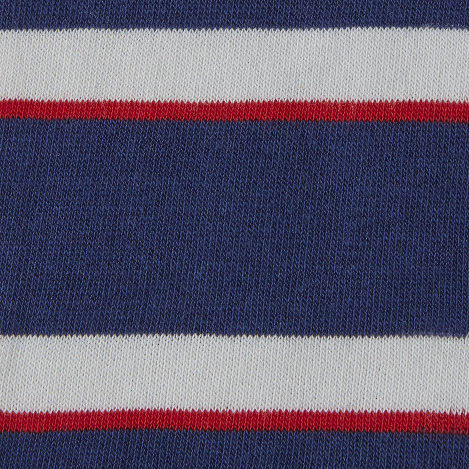 Navy, Red and White Stripe Cotton Mix Short Socks