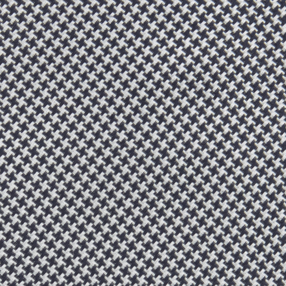Black Houndstooth Silk Tie