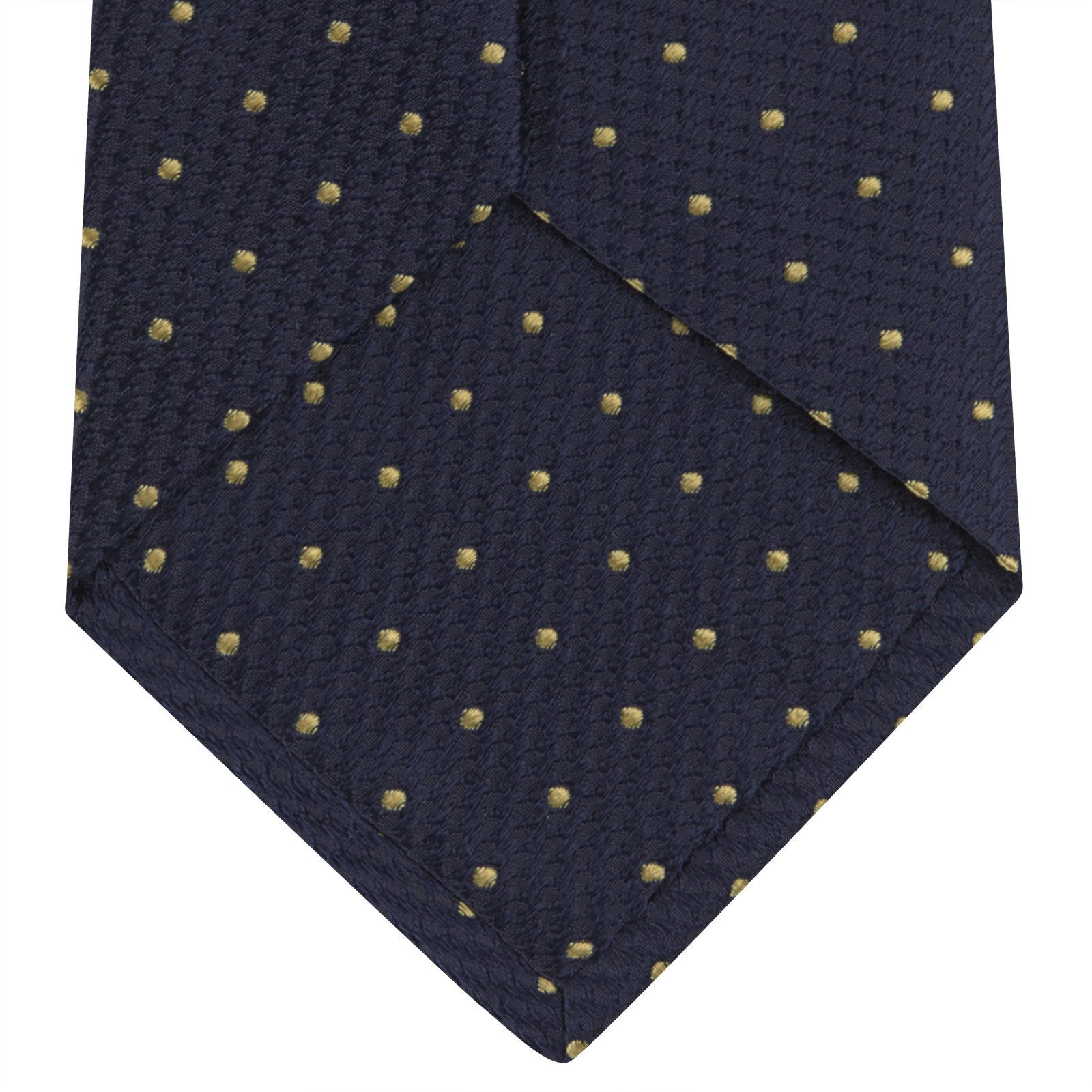 Navy and Gold Spot Lace Silk Tie