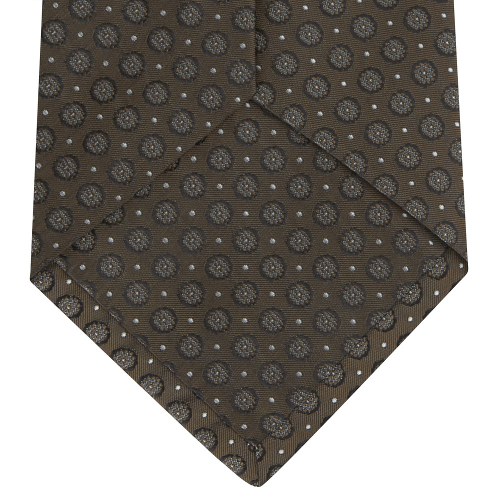 Brown Floral Spot Silk Tie