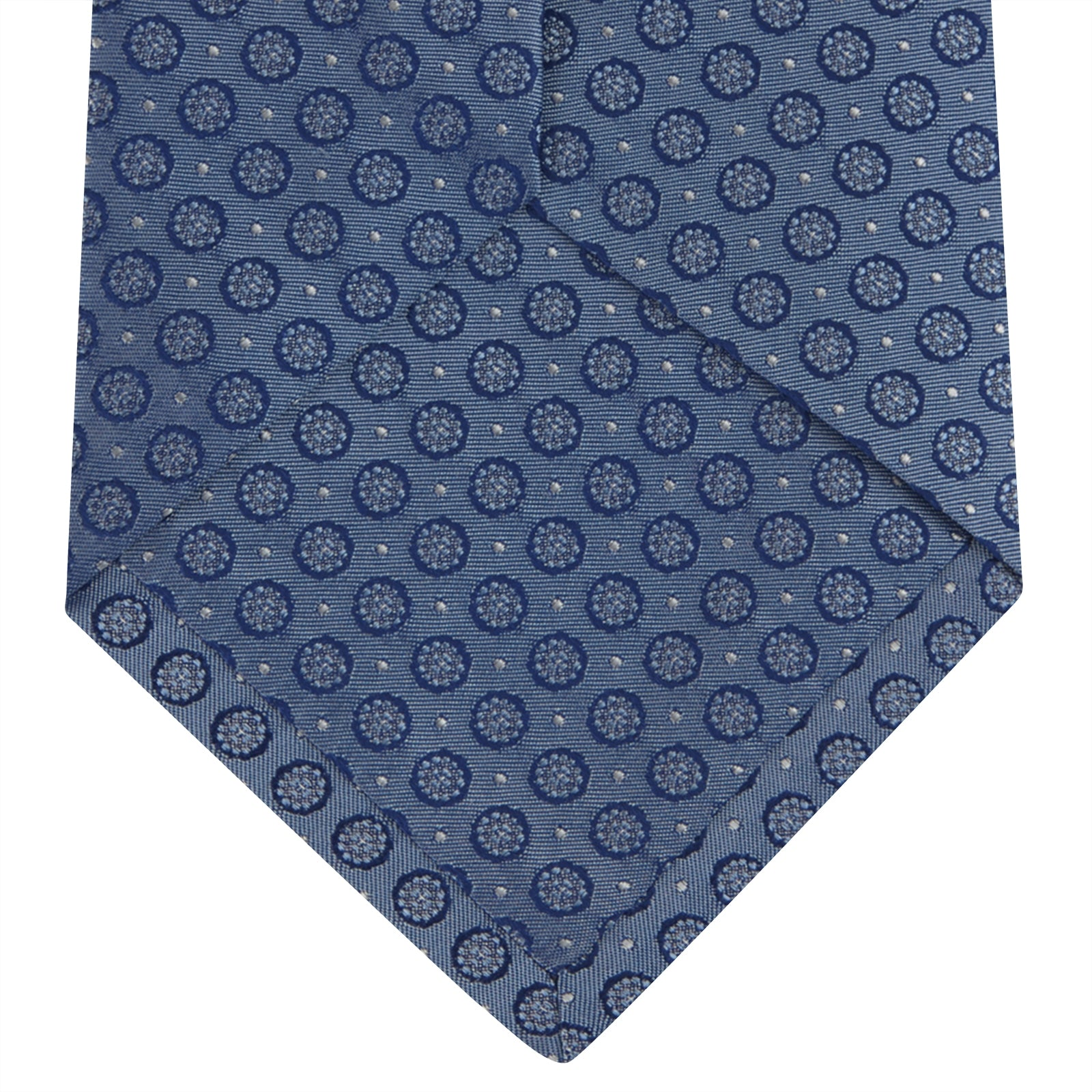 Light Blue Floral Spot Silk Tie