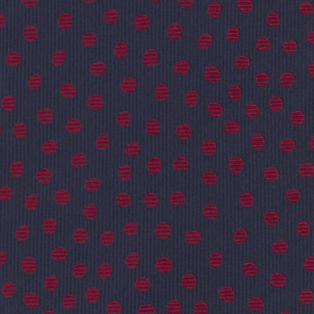Navy and Red Paint Spot Silk Tie