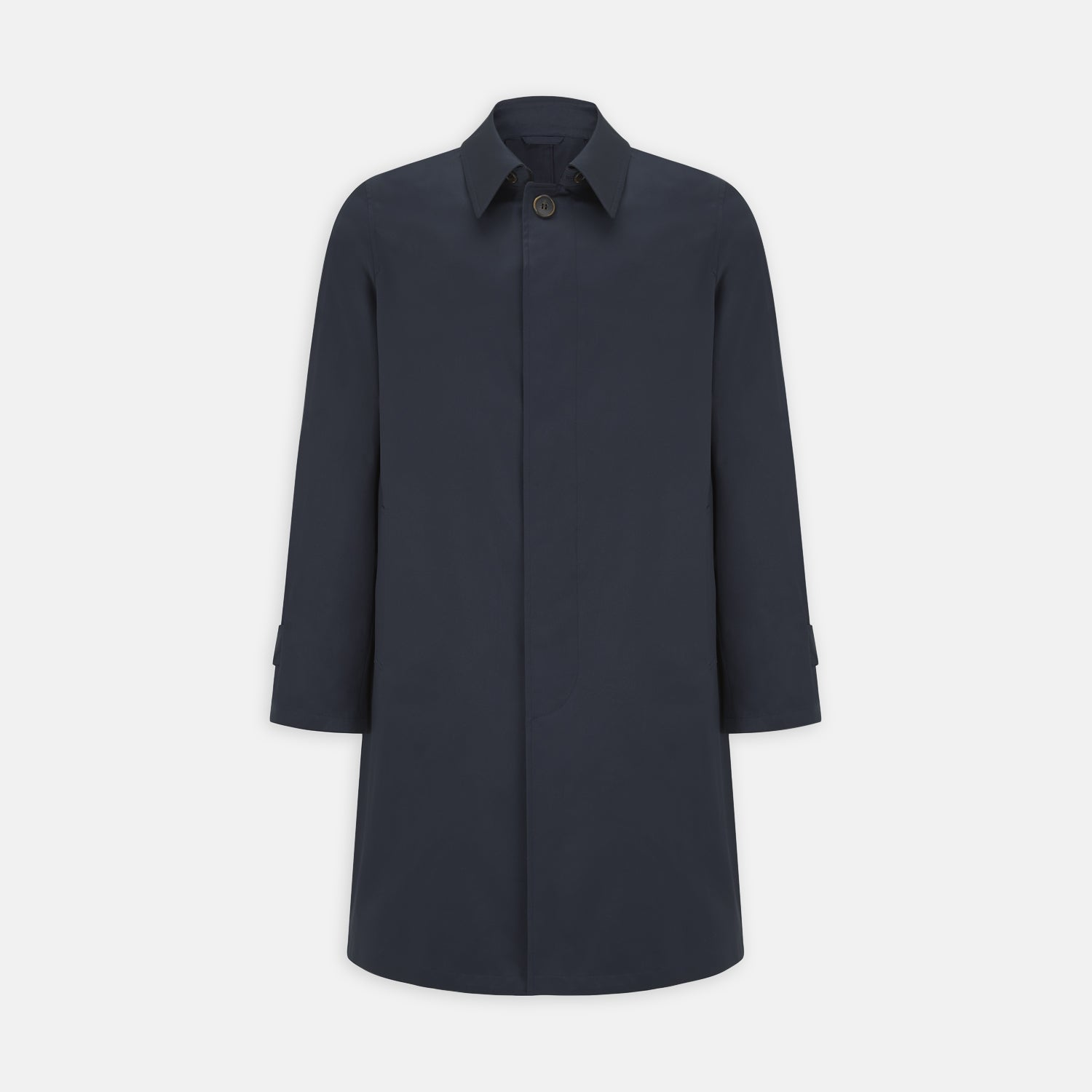 Navy Cotton Car Coat