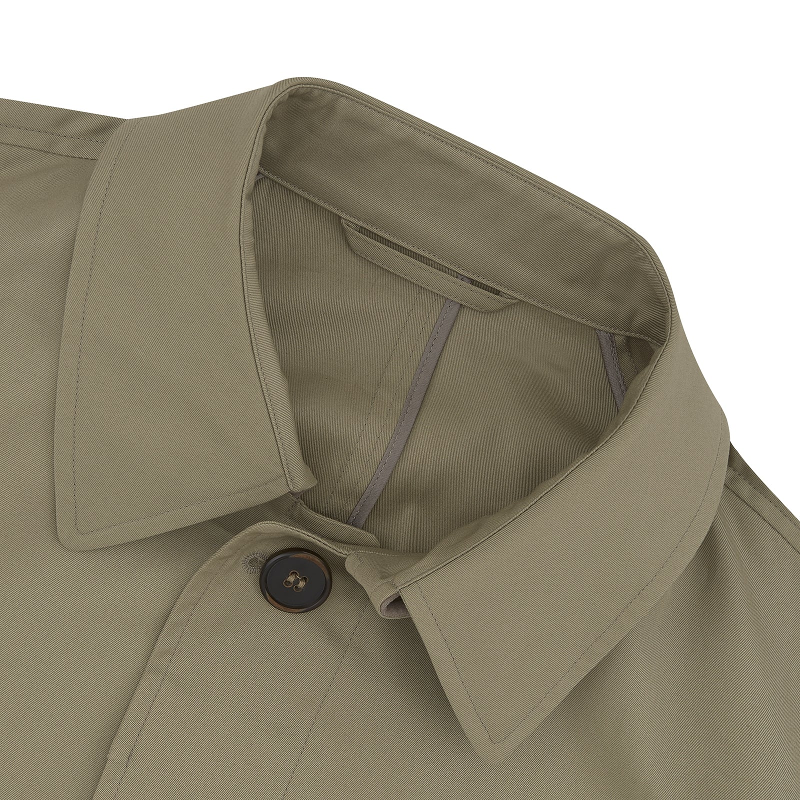 Traditional Khaki Cotton Car Coat