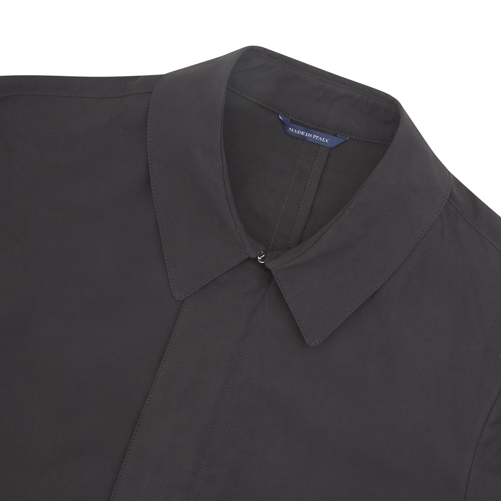 Midnight Navy Cotton Car Coat