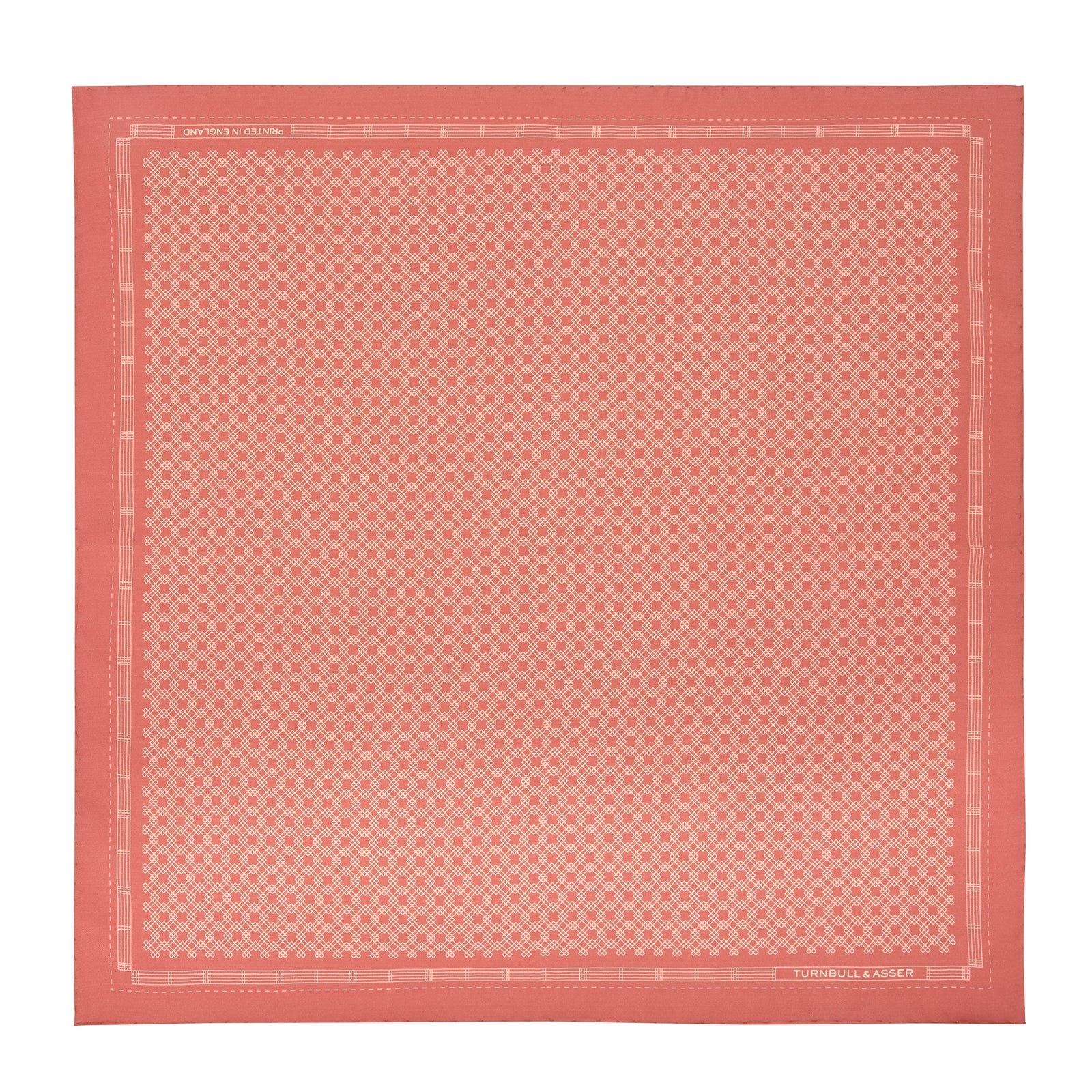 Indian Pink Monocle Silk Pocket Square