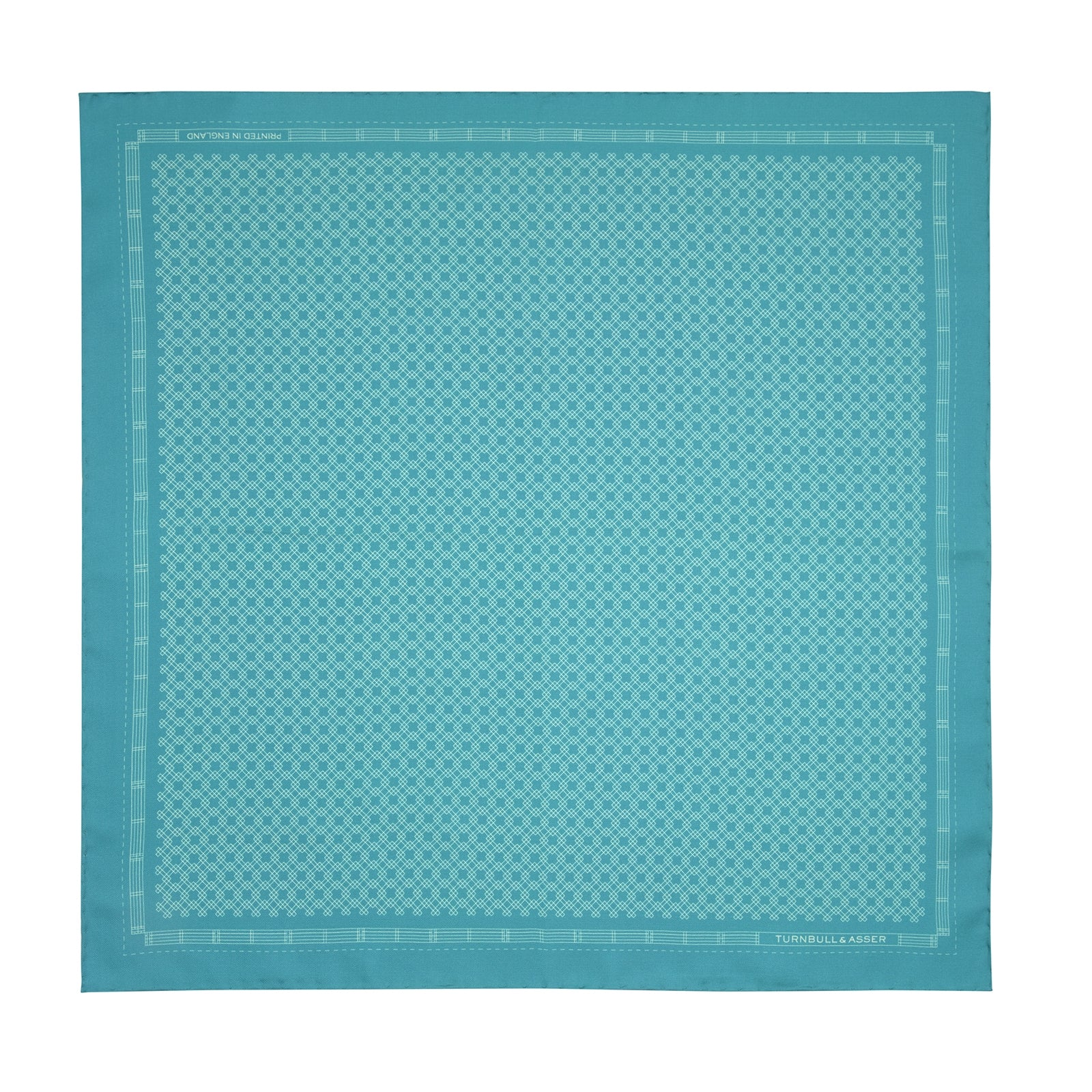 Kingfisher Green Monocle Silk Pocket Square