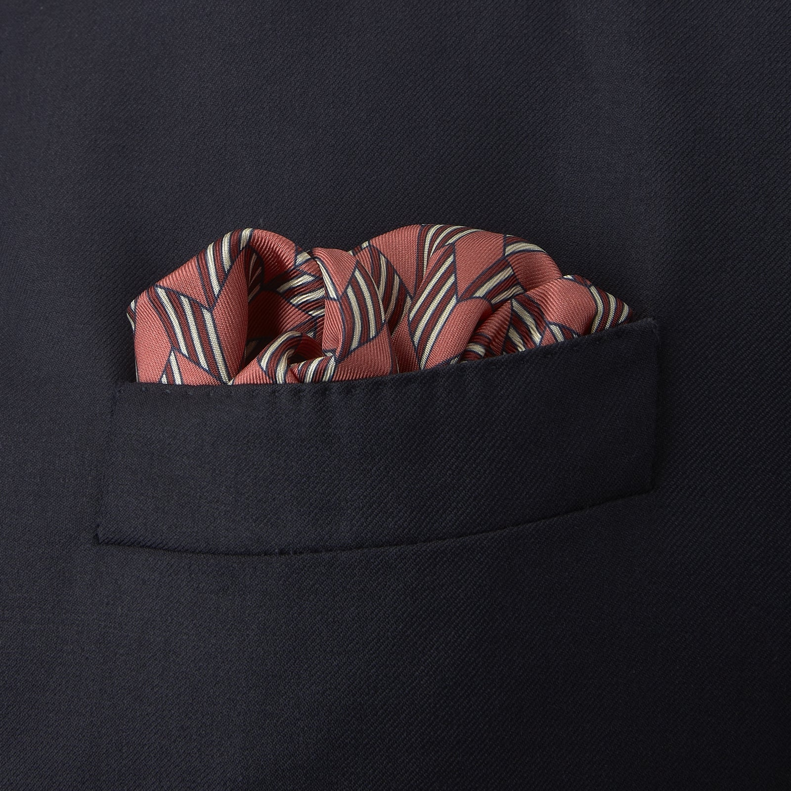 Red and Pink Arrow Silk Pocket Square