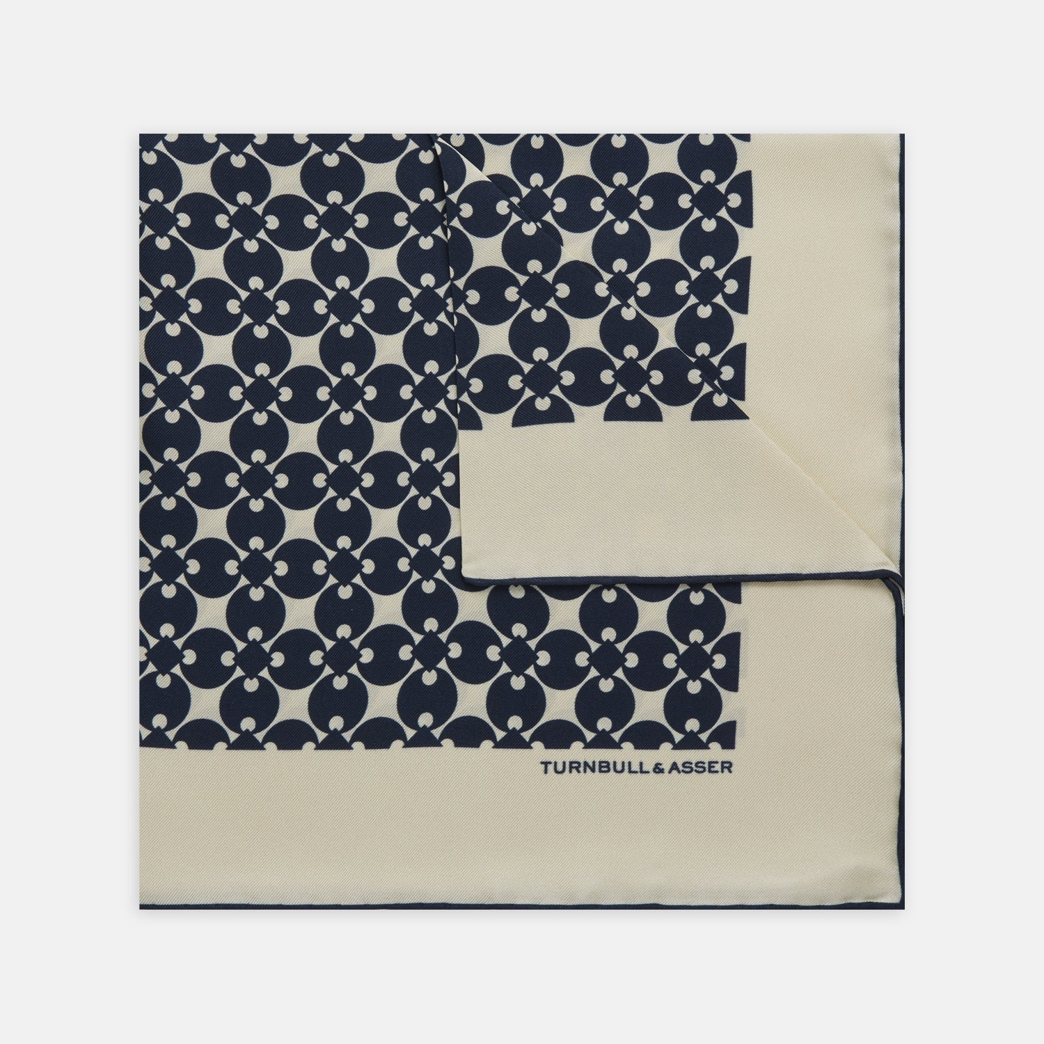 White and Blue Vanguard Spot Silk Pocket Square