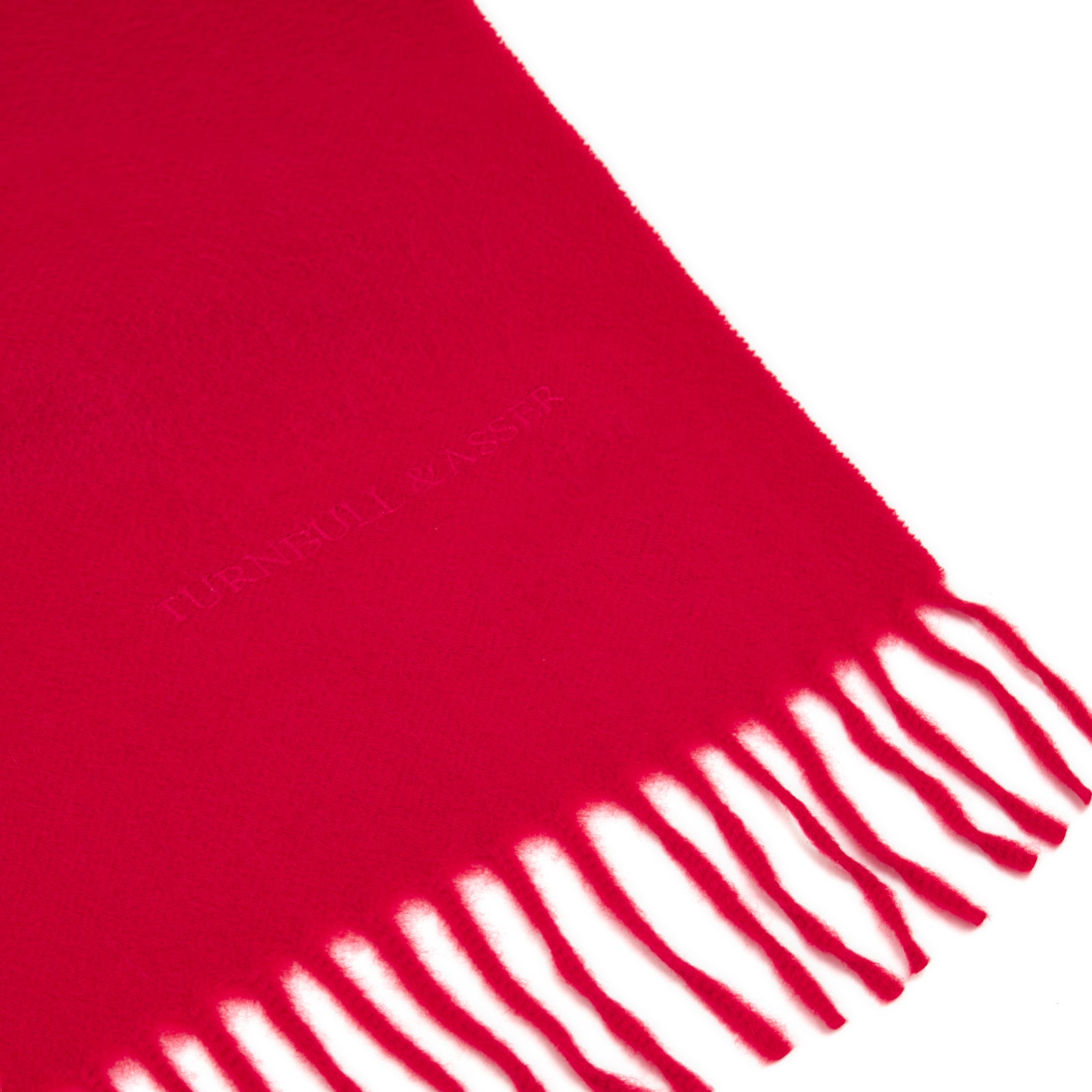 Red Pure Cashmere Scarf