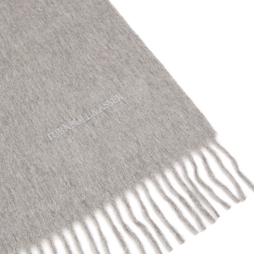 Flannel Grey Pure Cashmere Scarf