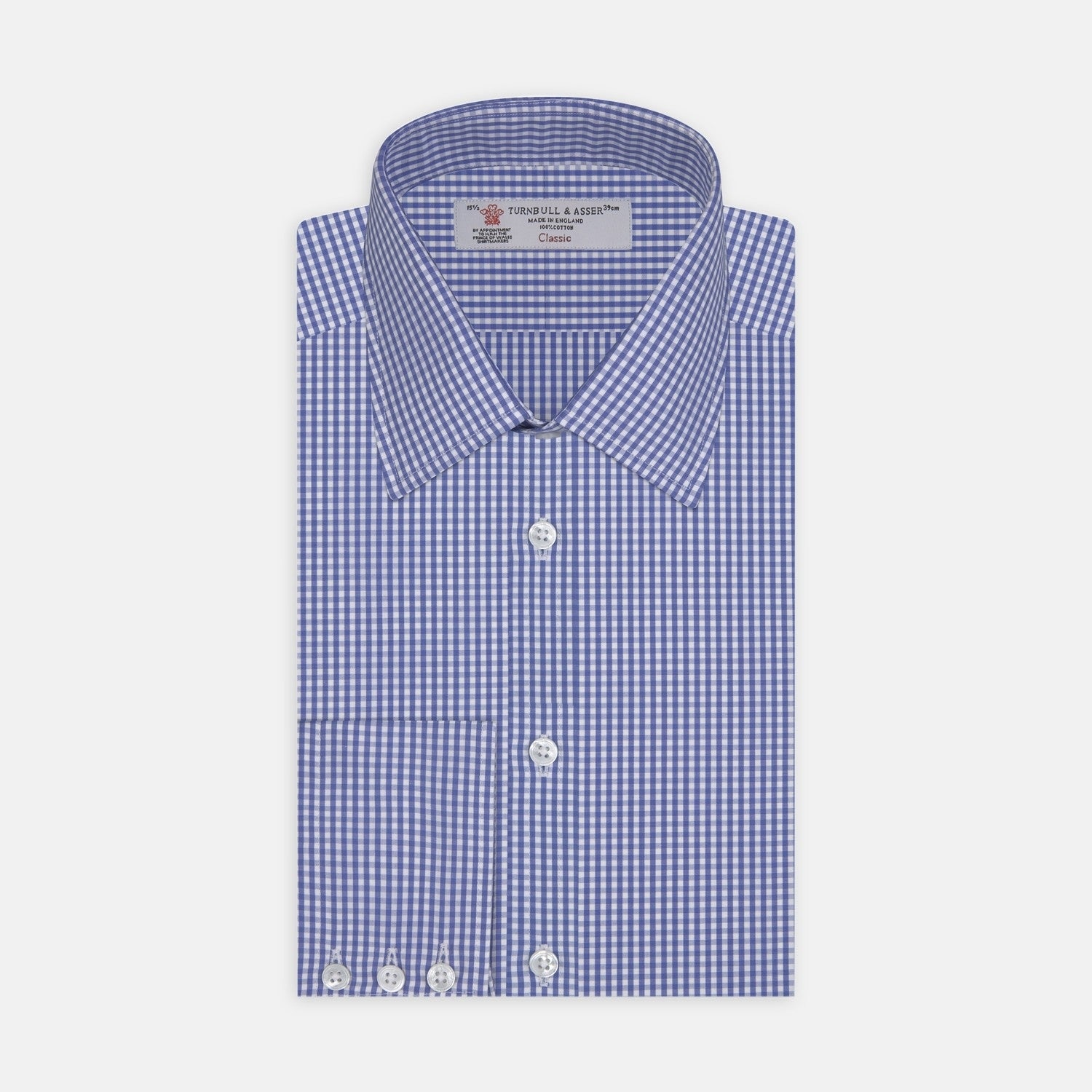 Mid Blue Gingham Check Cotton Fabric