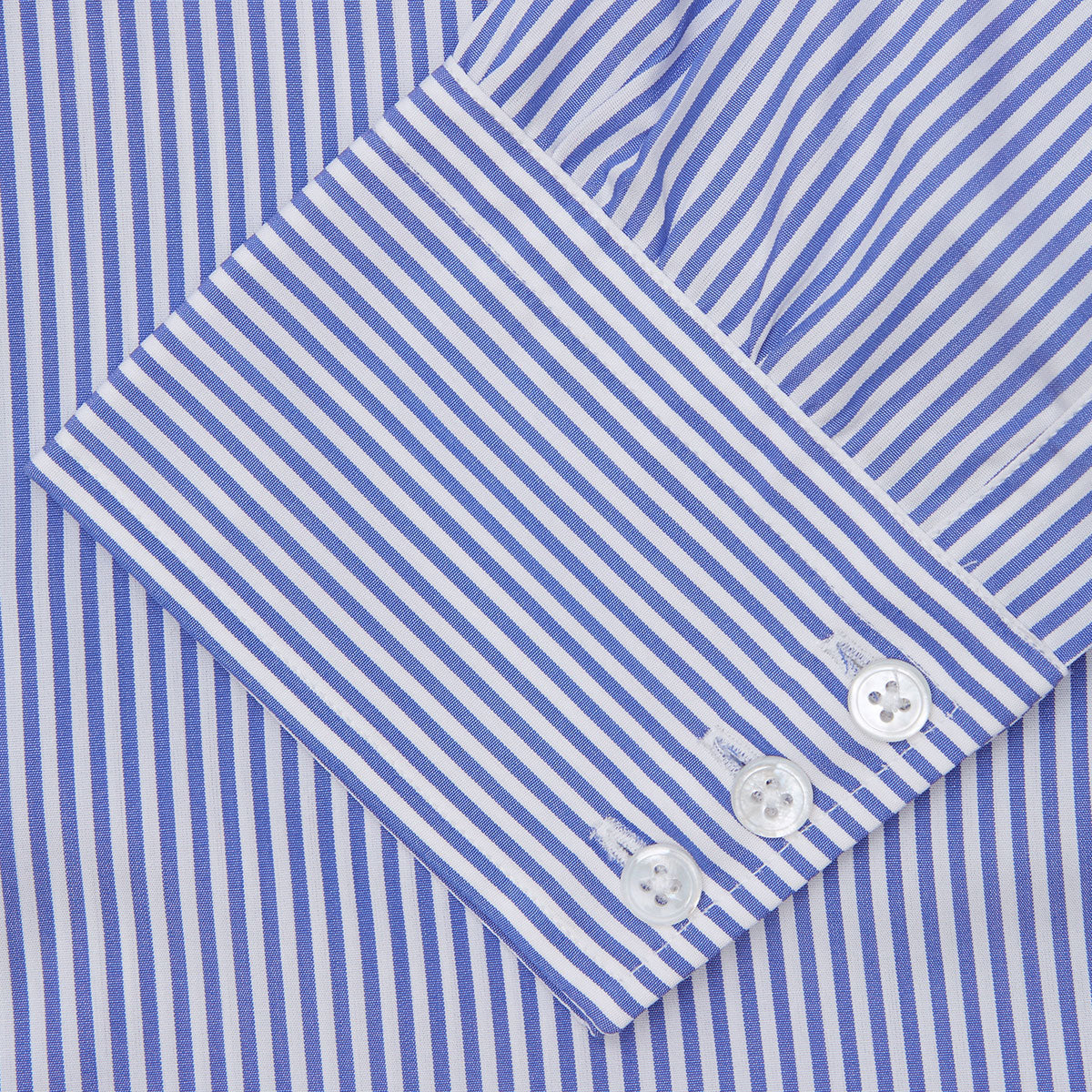 Blue Bengal Stripe Shirt with T&A Collar and 3-Button Cuffs