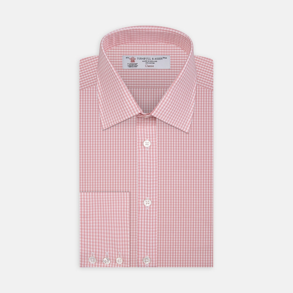 Light Pink Gingham Check Cotton Fabric
