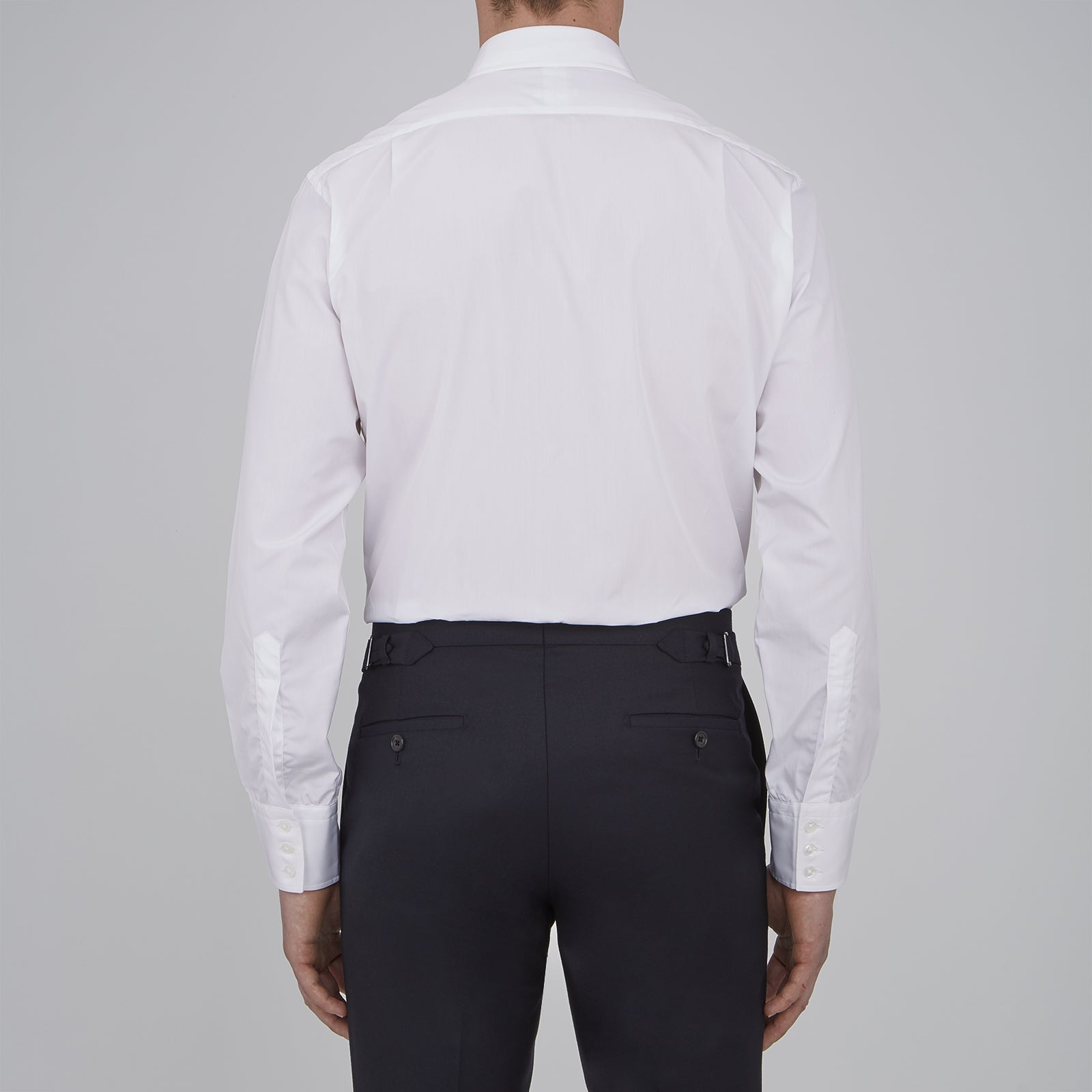 Two-Fold 120 White Shirt with T&A Collar and 3-Button Cuffs