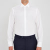 Two-Fold 200 White Cotton Shirt with Regent Collar and 3-Button Cuffs