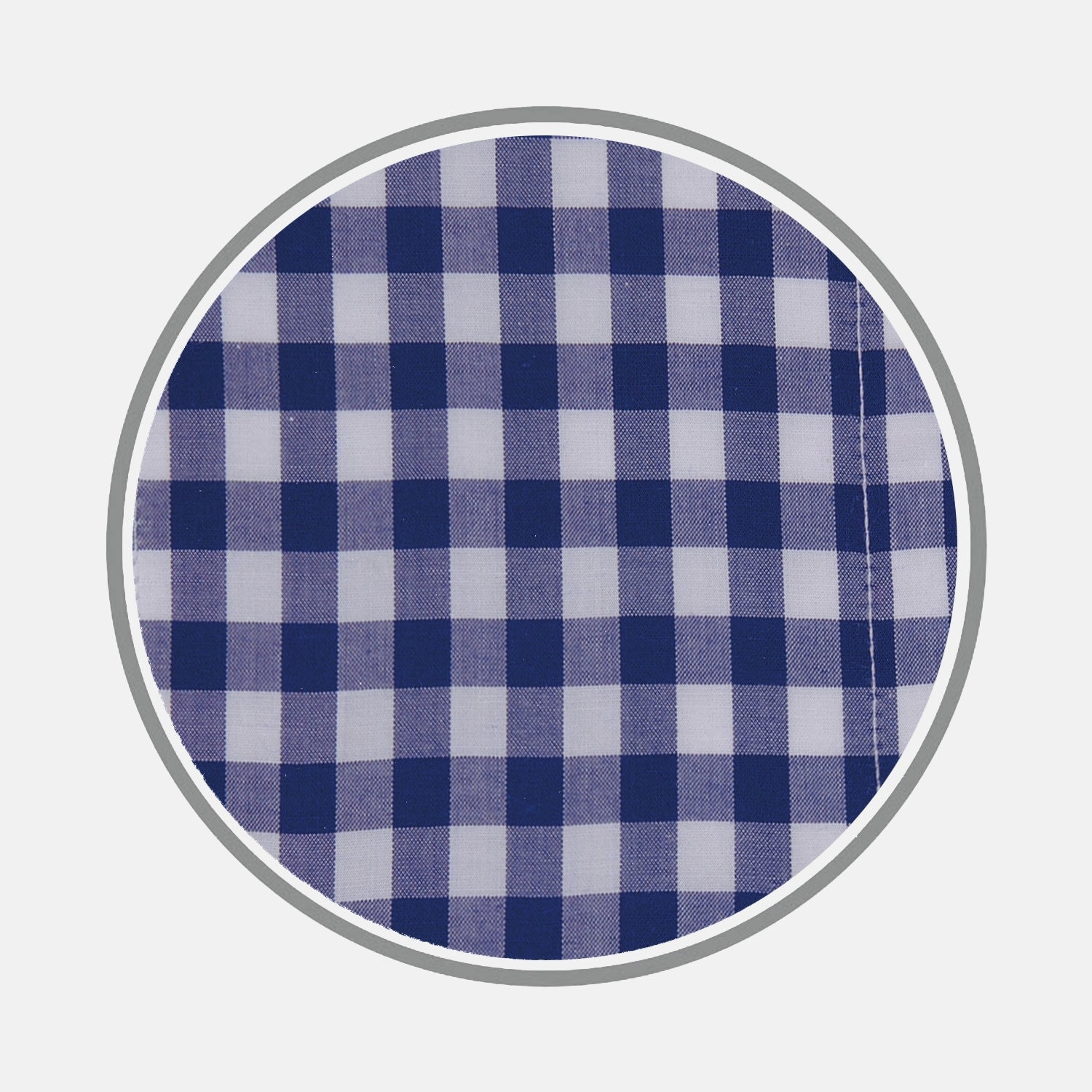 Navy Wide Gingham Check Cotton Fabric