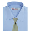 Blue Sea Island Quality Cotton Shirt with T&A Collar and Double Cuffs