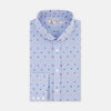 Informalist Blue and Rainbow Spot Embroidered Cotton Shirt with Canonbie Collar