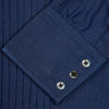 Dark Blue Denim-Cashmere Dress Shirt with T&A Collar and 3-Button Cuffs