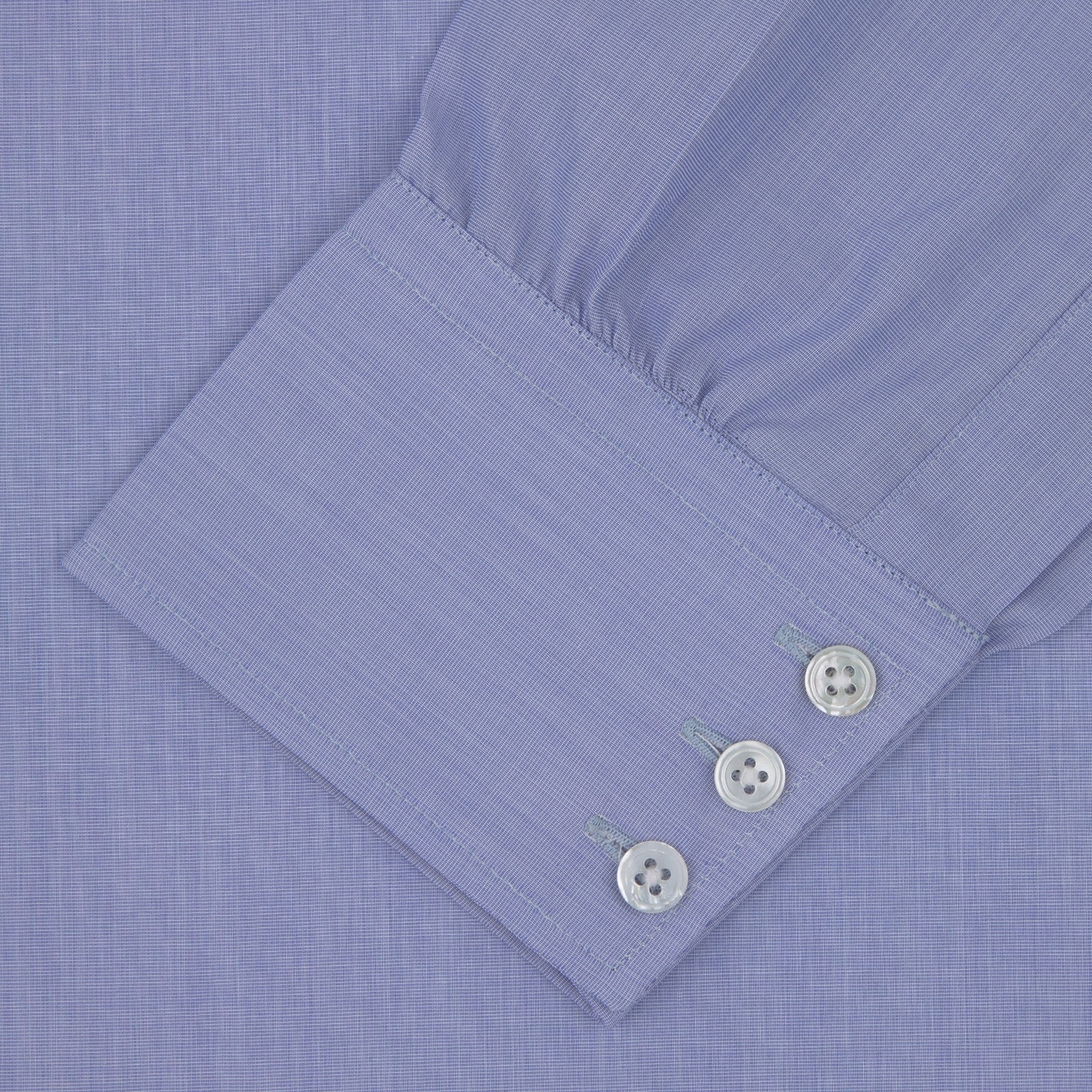 Dark Blue Sea Island Quality Cotton Shirt with T&A Collar and 3-Button Cuffs
