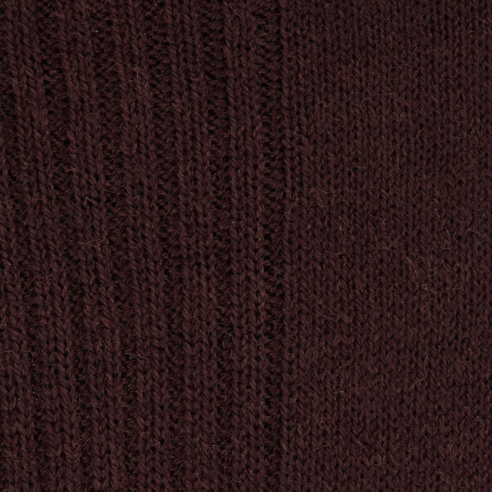 Maroon Mid-Length Merino Wool Socks