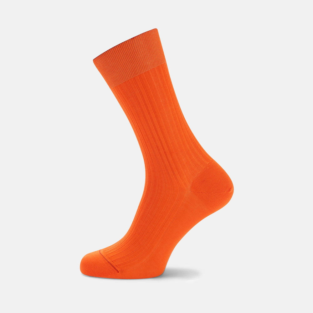 Orange Short Cotton Socks