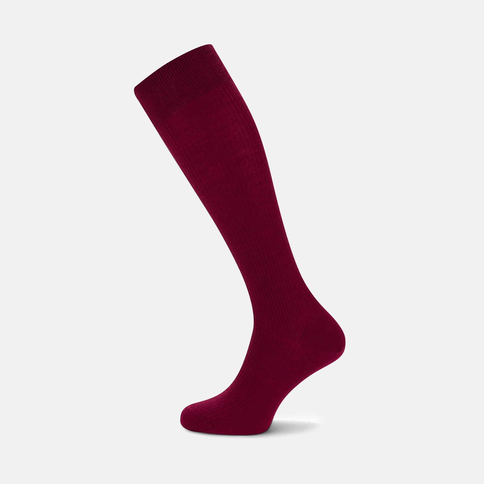 Bordeaux Long Merino Wool Socks