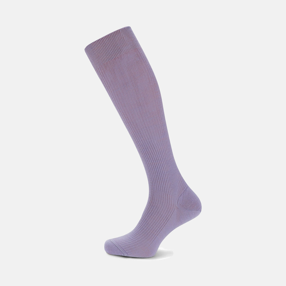 Lilac Long Merino Wool Socks