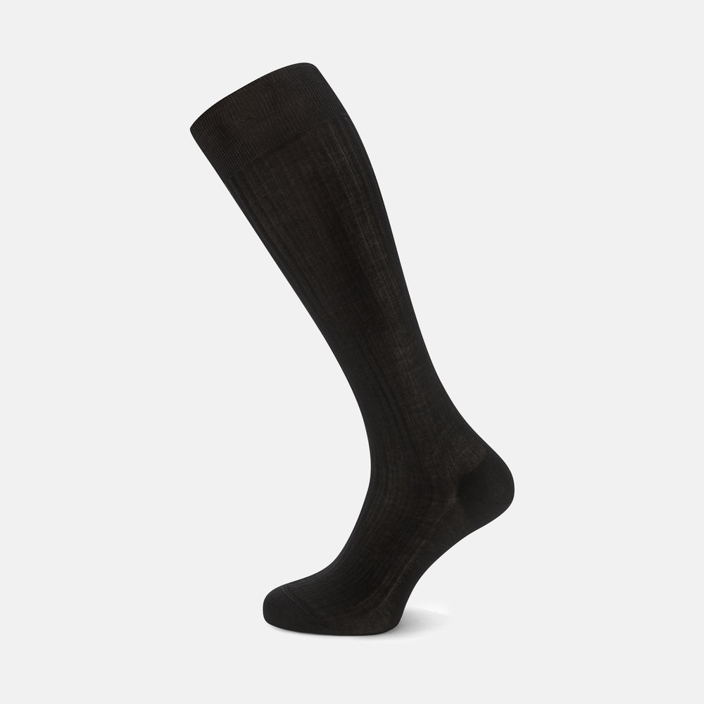 Black Long Cotton Socks