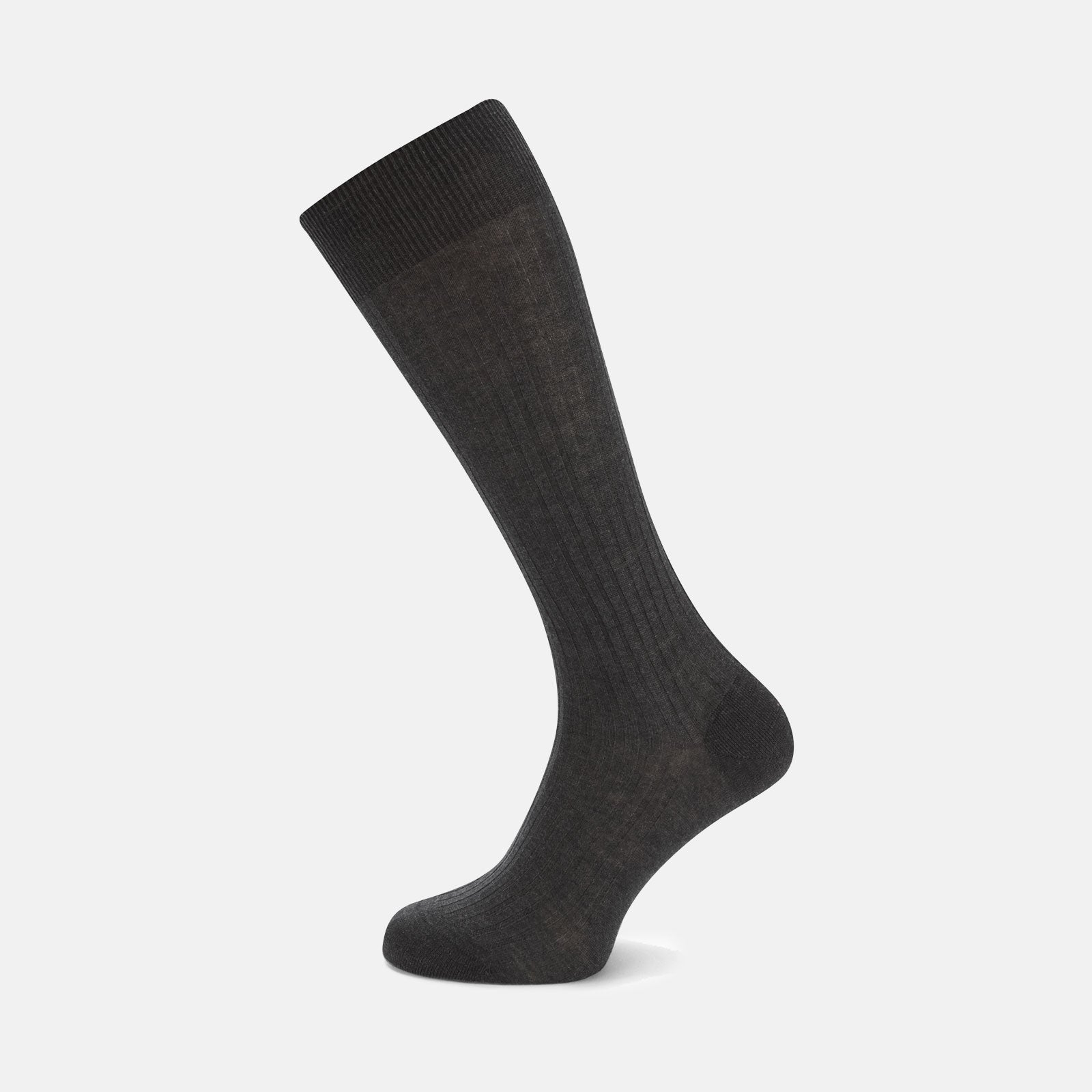 Dark Grey Long Cotton Socks