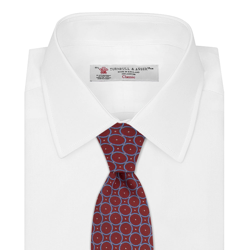 Red and Blue Shield Silk Tie