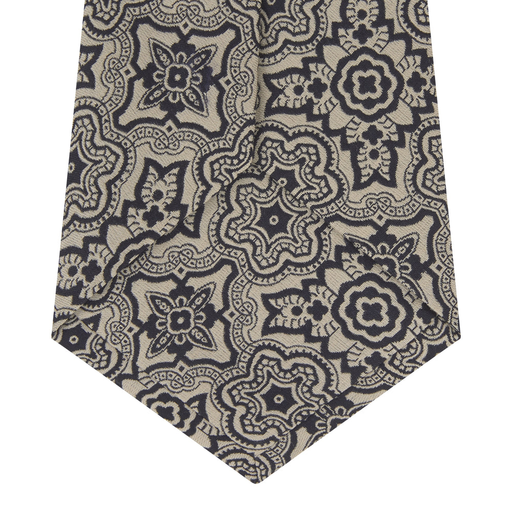 Black and White Wallpaper Silk Tie