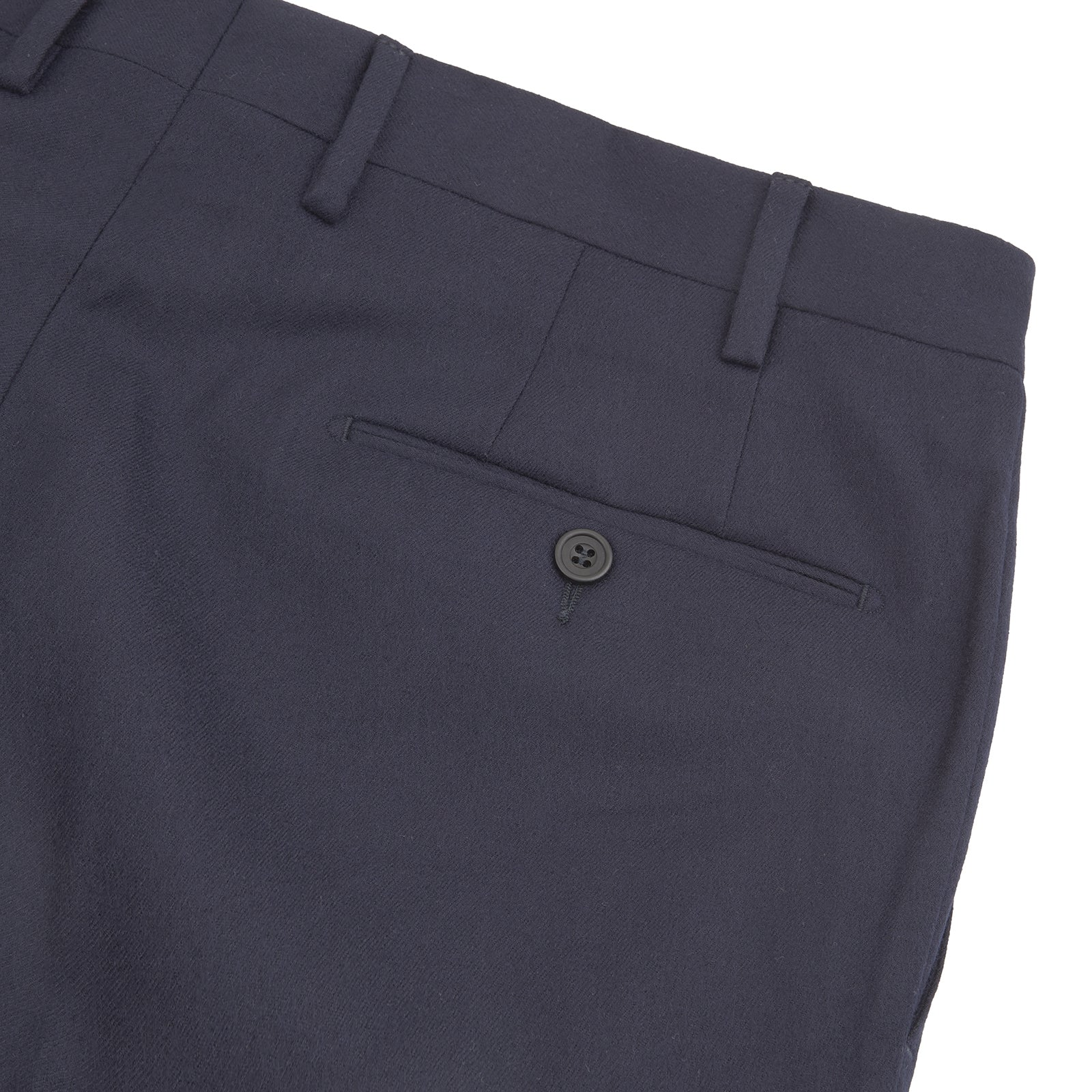 Manson Navy Wool Serge Trousers