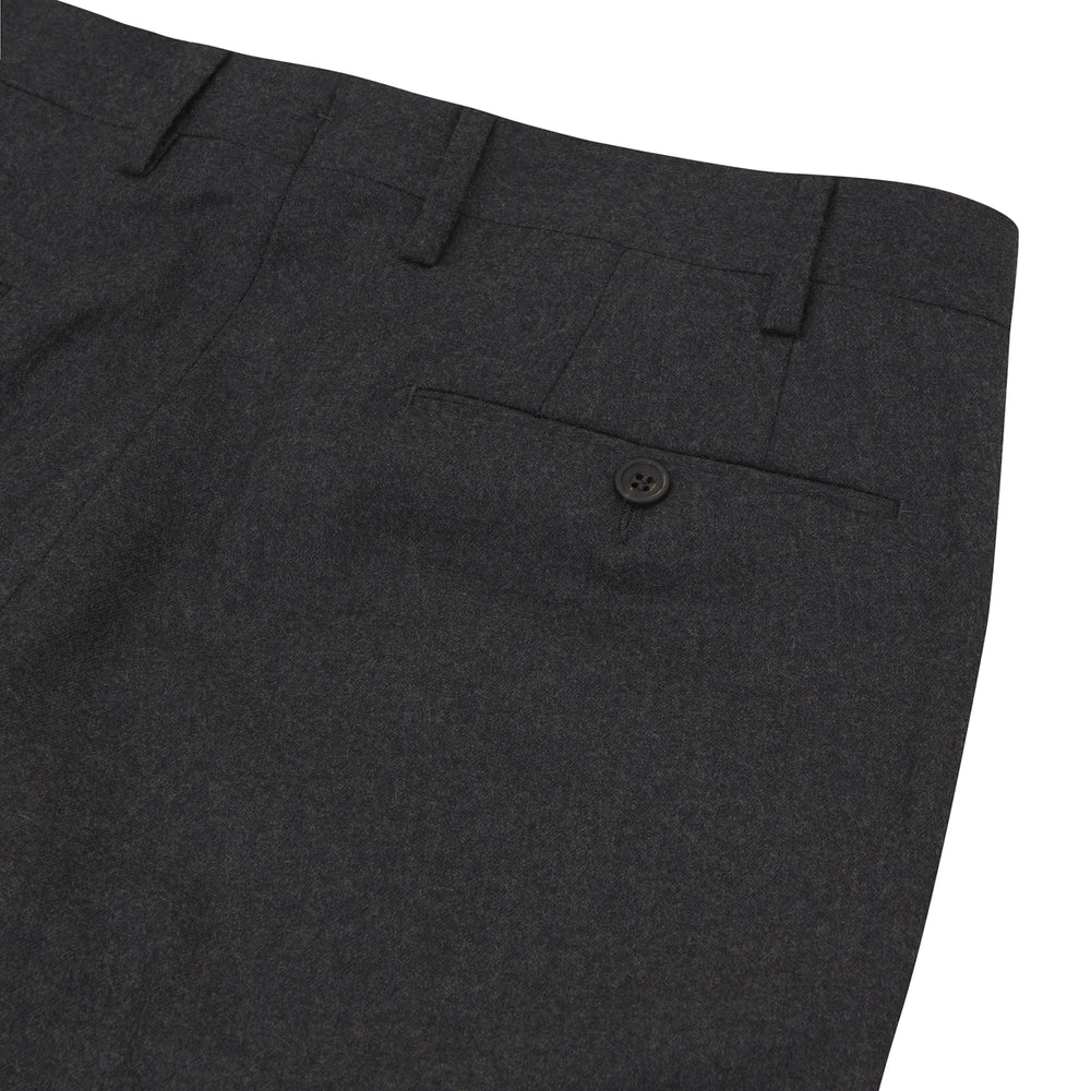Charcoal Wool Formal Chinos