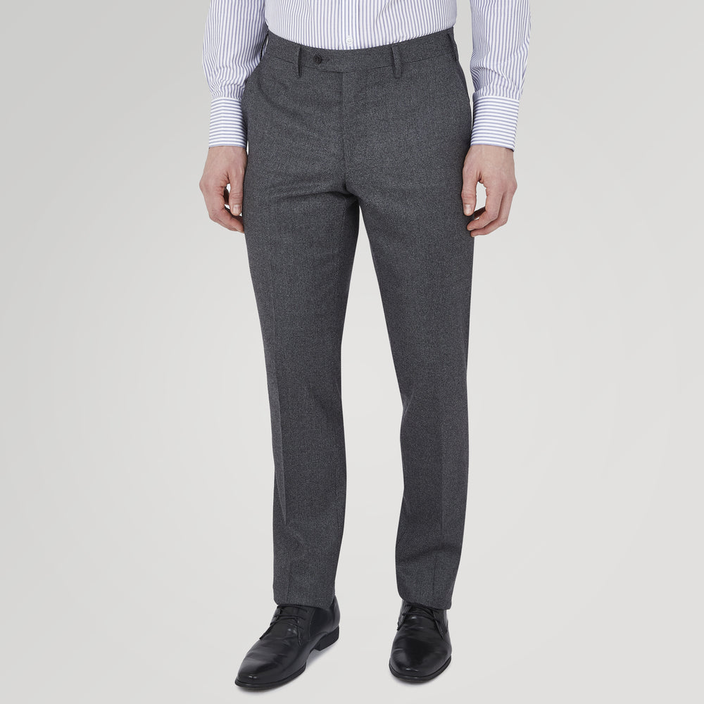 Jackson Grey Flannel Wool Trousers