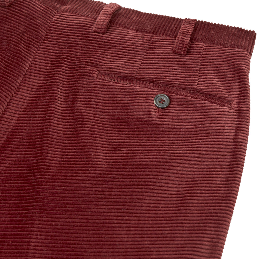 Copper Horizontal Corduroy Trousers