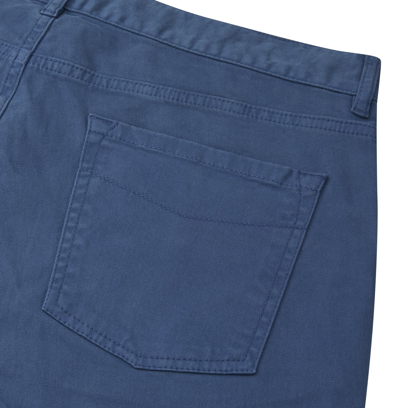 Navy Cotton Five Pocket Trousers