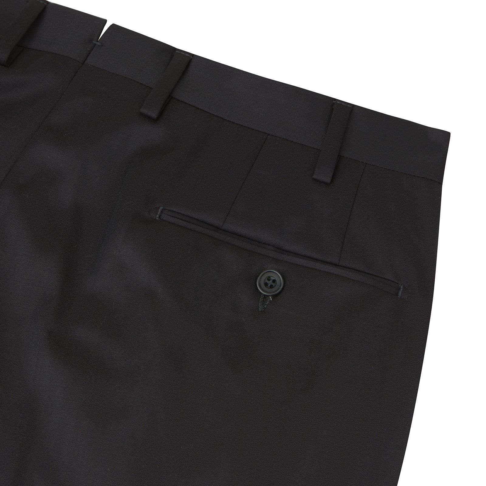 Brown Worsted Wool Pleated Formal Trousers