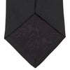Black Plain Satin Silk Tie
