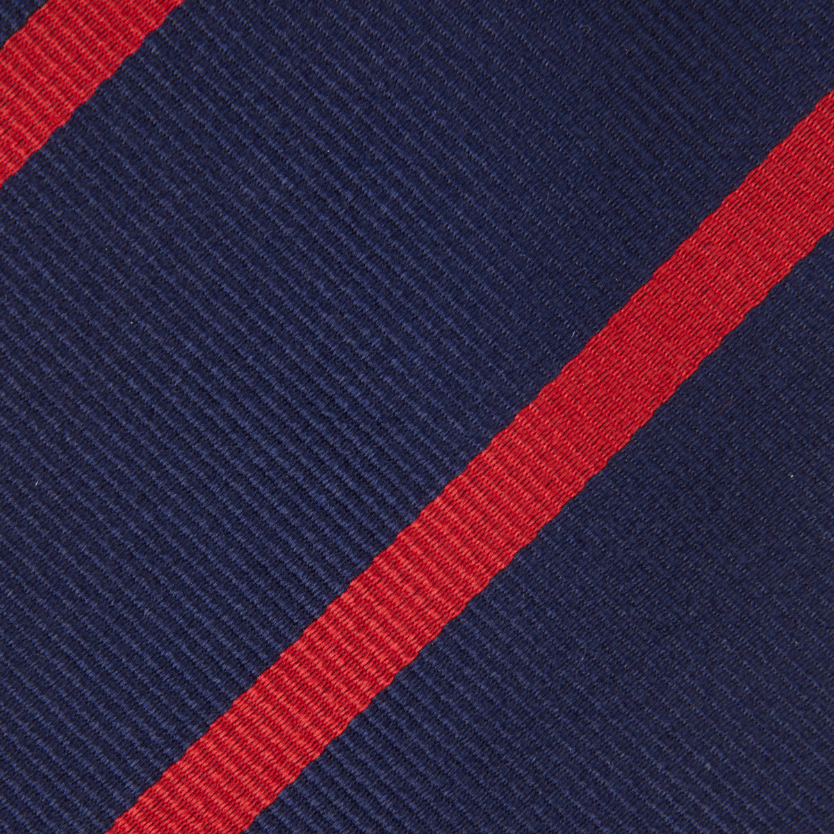 Navy and Red Blazer Stripe Repp Silk Tie