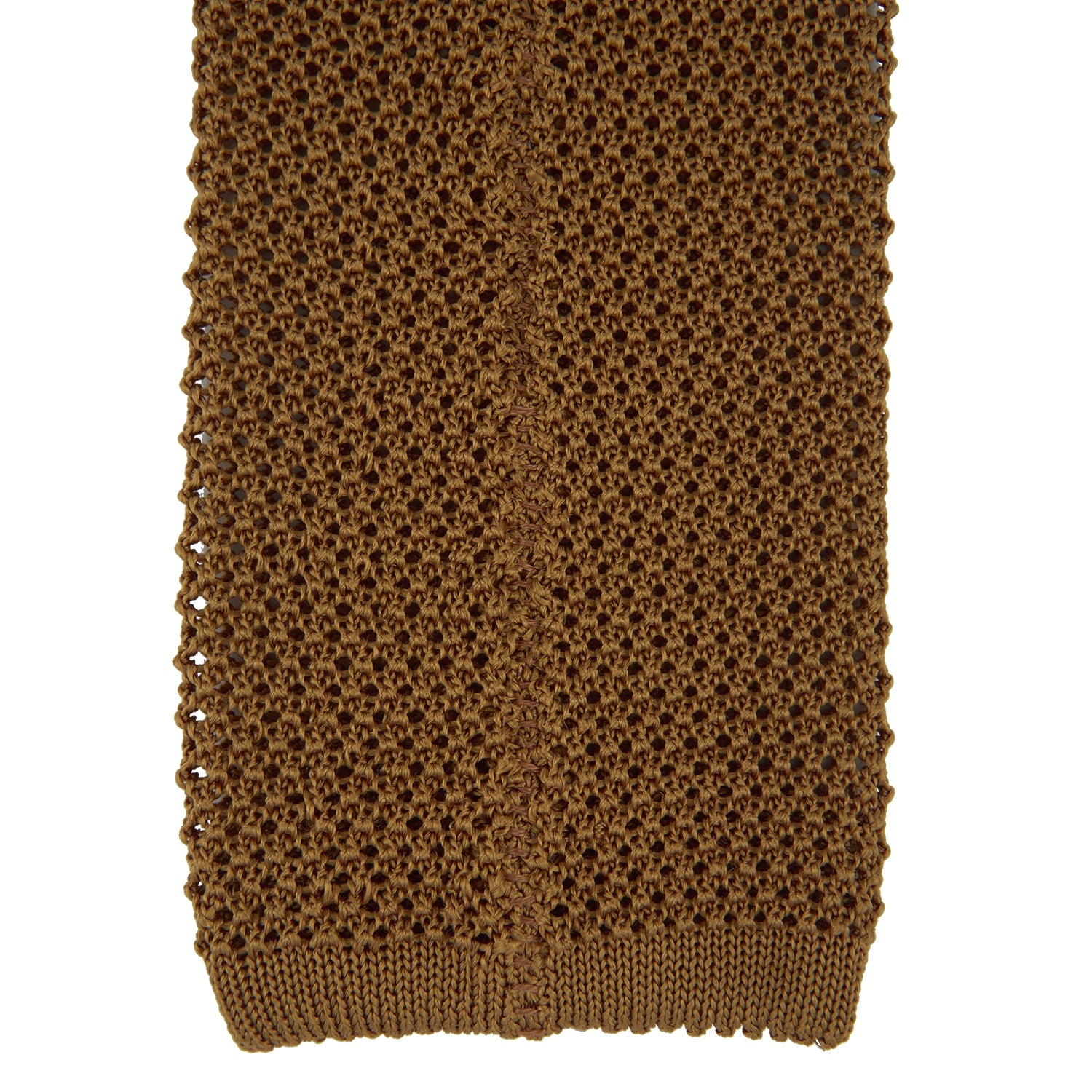 Gold Knitted Silk Tie