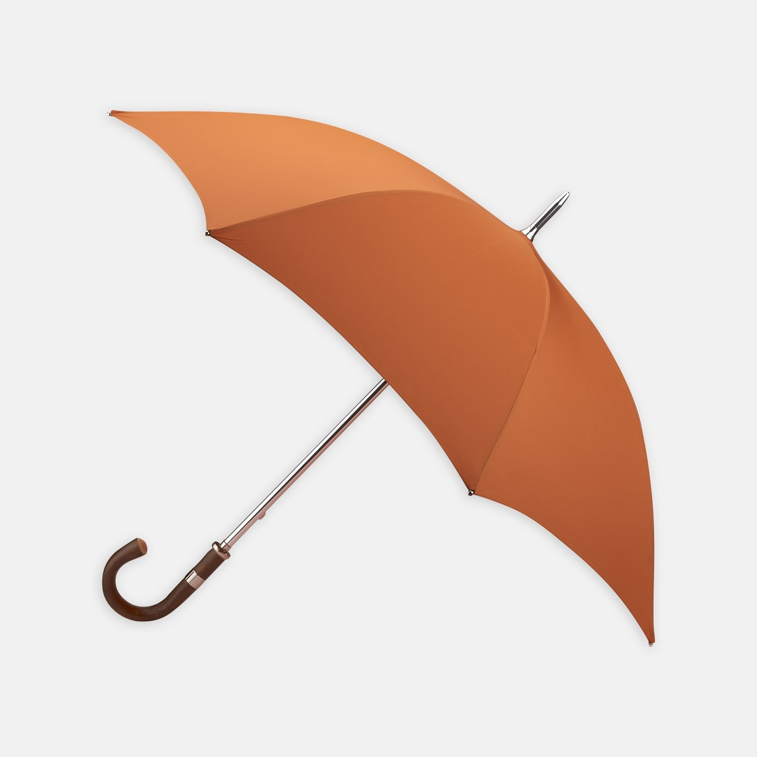 Orange Umbrella with Chestnut Crook