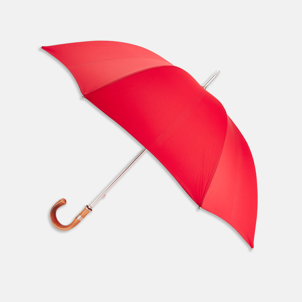Red Umbrella with Chestnut Crook