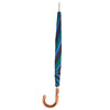 Blue and Green Umbrella with Chestnut Crook